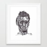 terminator Framed Art Prints featuring Terminator by Americo Artspace