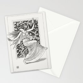 Dancing Nymph (Nymphe Danseuse) (1895) by Walter Crane. Stationery Cards