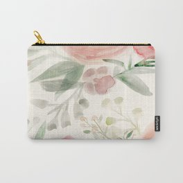 Blush Roses Watercolor Carry-All Pouch