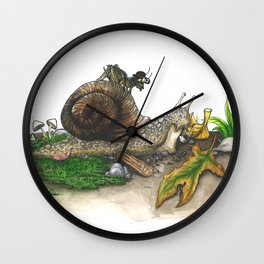 Little Worlds: Snail and Cricket Wall Clock