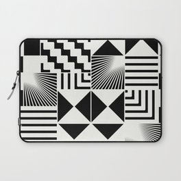 Mosaic Black And White Pattern Laptop Sleeve