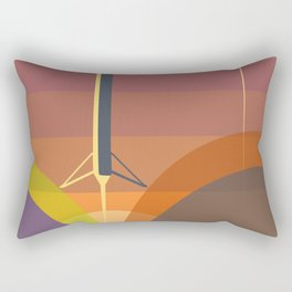 Falcon 9 Launch minimalist  Rectangular Pillow