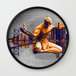 Detroit City Wall Clock