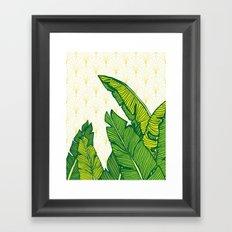 Tropical Leaves #society6 #decor #buyart Framed Art Print