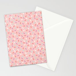 Pink Sprinkle Confetti Pattern Stationery Cards