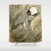 jojo Shower Curtains featuring Nosferatu by JoJo Seames