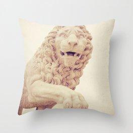St Augustine Bridge of Lions Throw Pillow