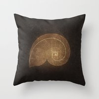 fibonacci Throw Pillows featuring Fibonacci by EtOfficina