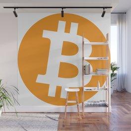 Bitcoin logo - BTC sign 1 Wall Mural