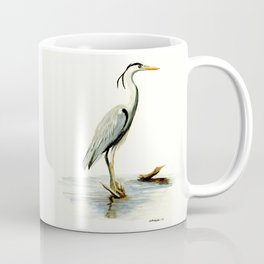 Blue Heron - watercolor bird, home decor, nursery wall art Coffee Mug