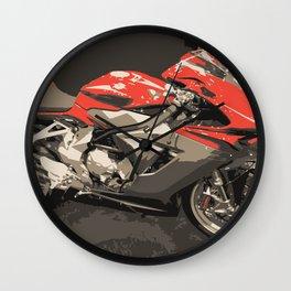 The maniac Motorcycle Wall Clock