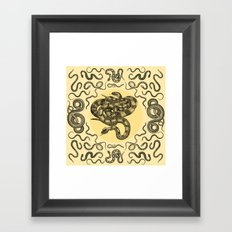Snakes Pattern Framed Art Print