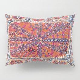Large Medallion Suzani Uzbekistan Embroidery Pillow Sham