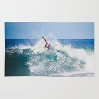 surfer Area & Throw Rugs featuring Surfer by Carmen Moreno Photography