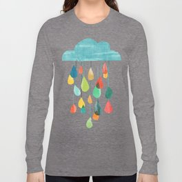 cloudy with a chance of rainbow Long Sleeve T-shirt