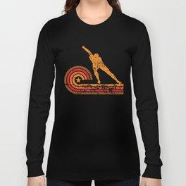 Retro Style Speed Skater Vintage Speed Skating Long Sleeve T-shirt