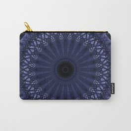 Mandala in grey and plum tones Carry-All Pouch