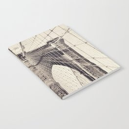 Brooklyn bridge, New York city, black & white photography, wall decoration, home decor, nyc fine art Notebook