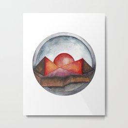 Geometric landscapes 04 Metal Print