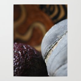 Avocado and Stone Close Up Poster