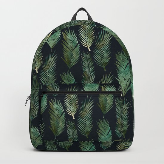 Tropical Pattern at Night Backpack