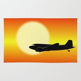 DC-3 passing sun Rug