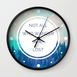 All Who Wander Travel Quote Wall Clock
