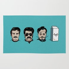 Mustache Club Rug