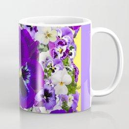 PURPLE PANSIES GARDEN LILAC ART Coffee Mug
