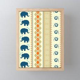 Ethnic Pattern Framed Mini Art Print