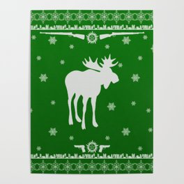 Supernatural Sam Holiday Sweater Poster