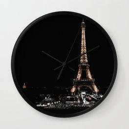 Gold Eiffel Tower Wall Clock
