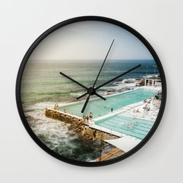 Bondi Icebergs Club | Bondi Beach Sydney Australia Ocean Coastal Travel Photography Wall Clock