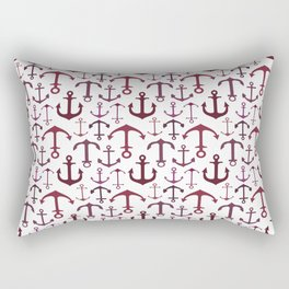 Red Anchors Rectangular Pillow