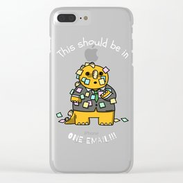 One Email, Please! WTF? Clear iPhone Case