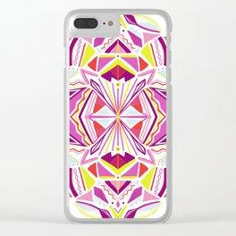 solana, tribal mandala Clear iPhone Case