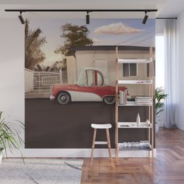 The Cuban Kingpin - Vintage car in the streets of Cuba Wall Mural