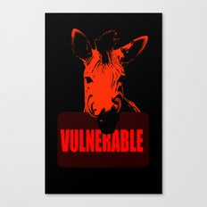 Vulnerable Zebra Canvas Print