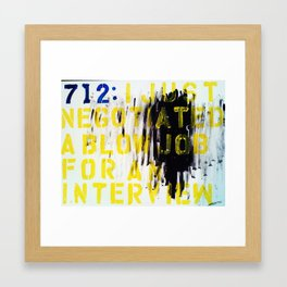 Texting 712 : Framed Art Print