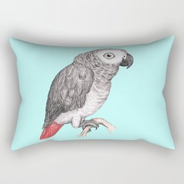Cute African grey parrot Rectangular Pillow