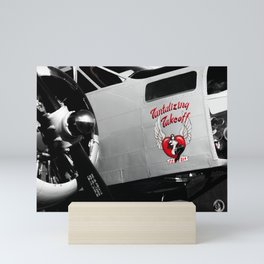 Beech AT-11 in selective color Mini Art Print