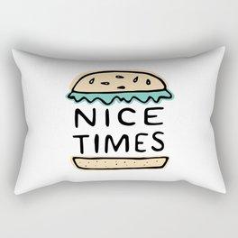 Nice Times Cheeseburger Rectangular Pillow
