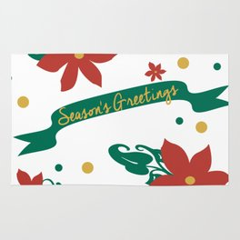 Season's Greetings Floral Pattern 1 Rug