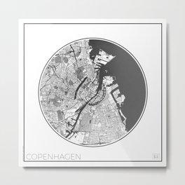 Copenhagen Map Universe Metal Print