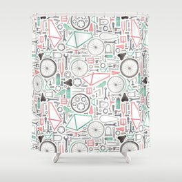 Cycling Bike Parts Shower Curtain