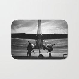 Airplane at sunrise Bath Mat