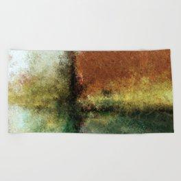 Focal Point Earth Tone Digital Painting Beach Towel