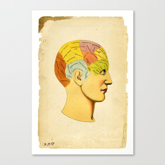 Phrenology Knowledge Within Canvas Print