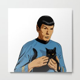 Spock's cat Metal Print