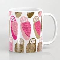 owls Mugs featuring Owls by Lydia Meiying